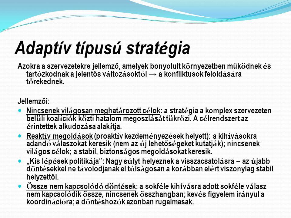 Adaptív típusú stratégia