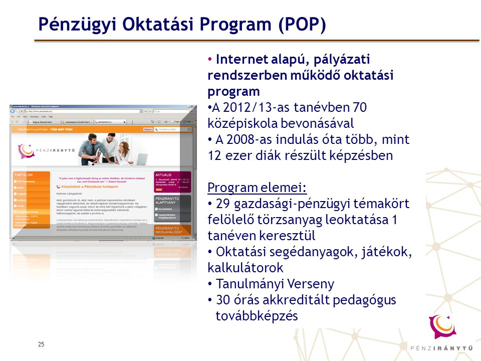 Pénzügyi Oktatási Program (POP)