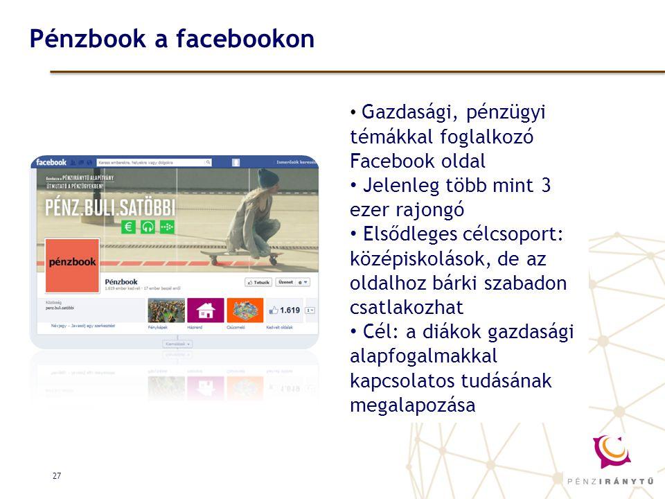 Pénzbook a facebookon Jelenleg több mint 3 ezer rajongó