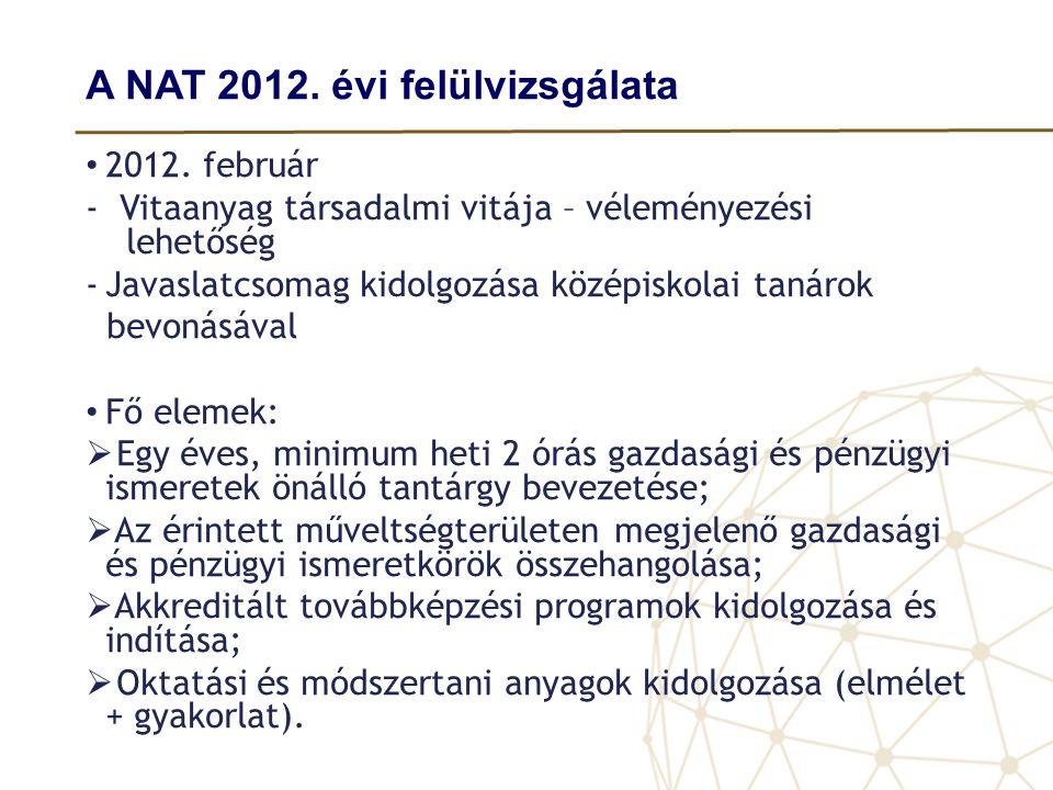 A NAT 2012. évi felülvizsgálata