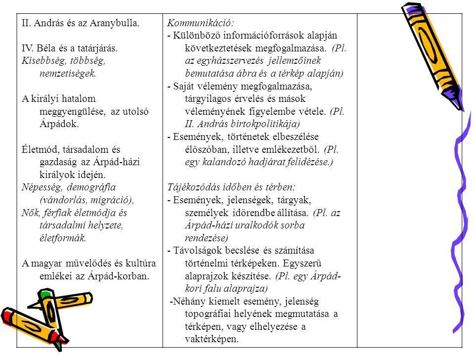 II. András és az Aranybulla.