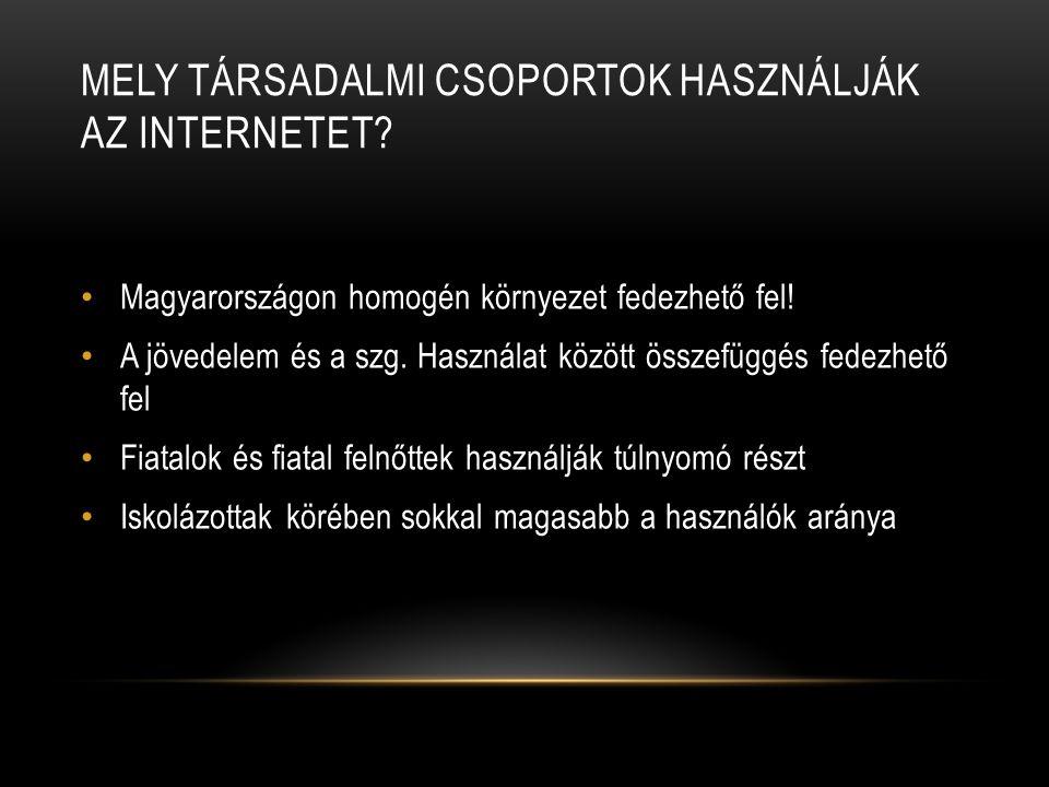 Mely társadalmi csoportok használják az internetet