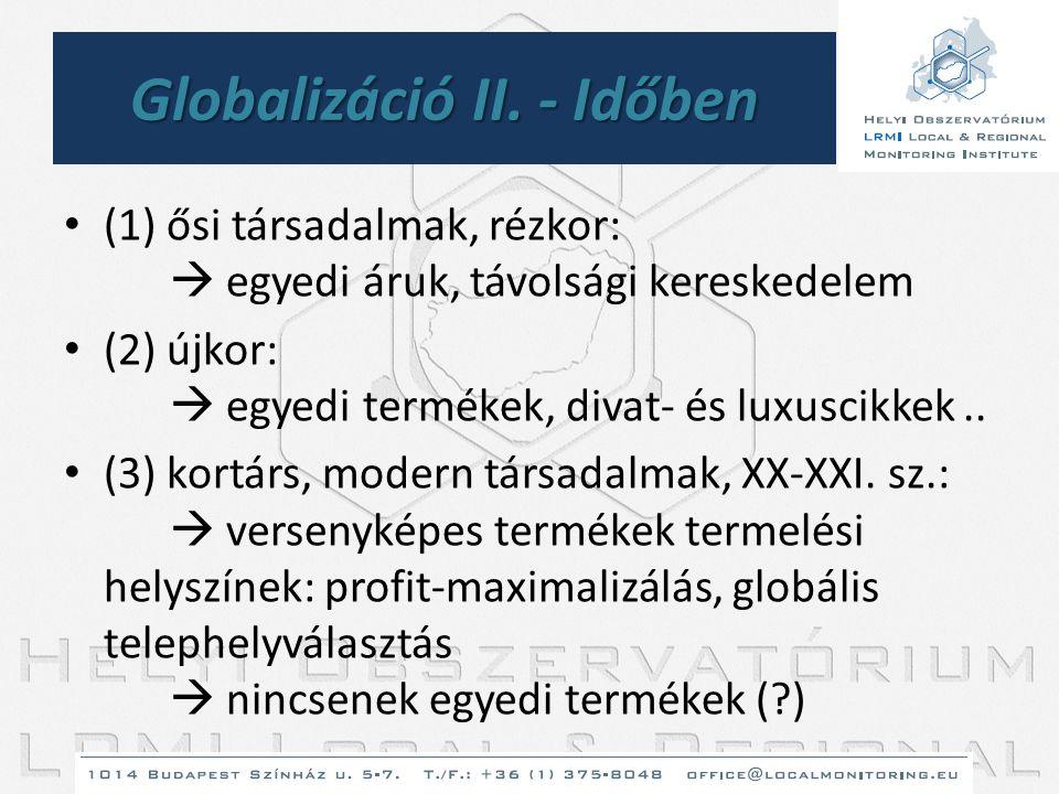 Globalizáció II. - Időben