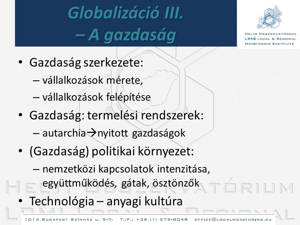 Globalizáció III. – A gazdaság