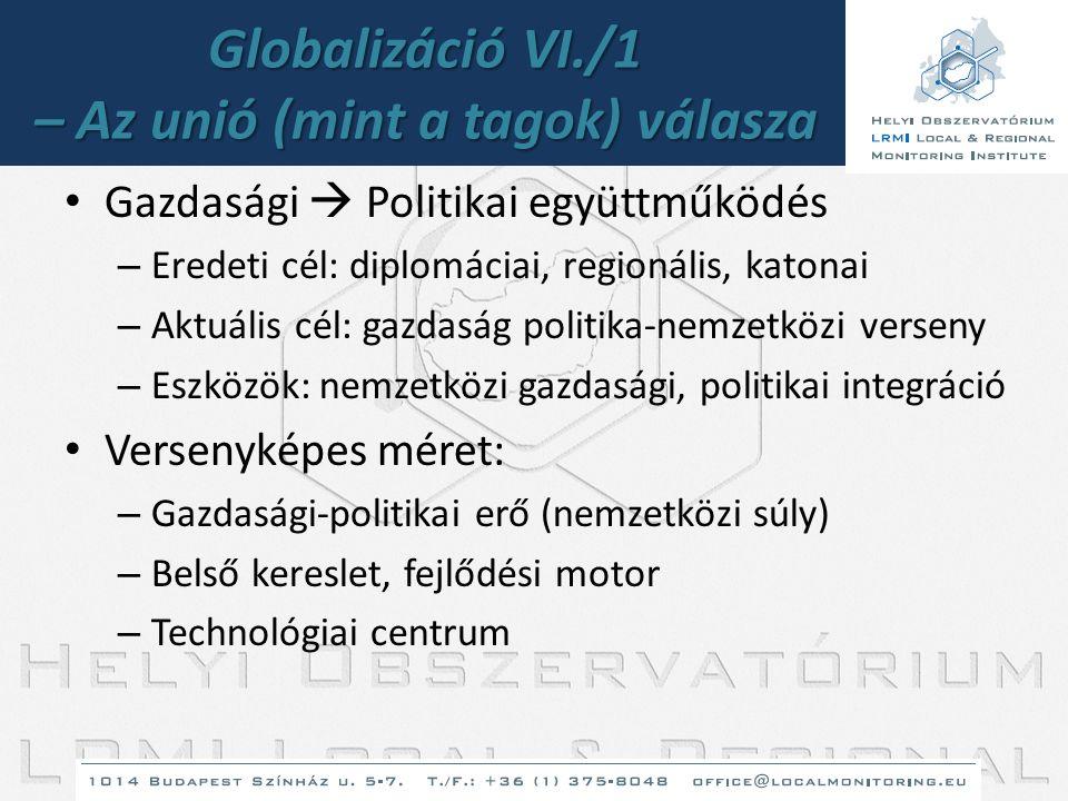Globalizáció VI./1 – Az unió (mint a tagok) válasza