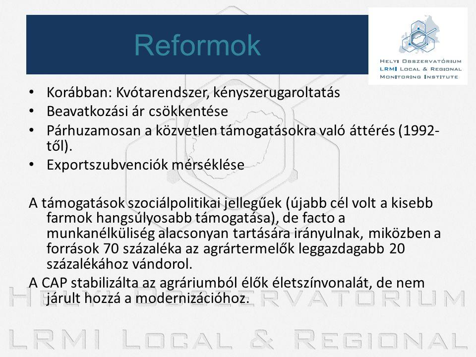 Reformok Korábban: Kvótarendszer, kényszerugaroltatás