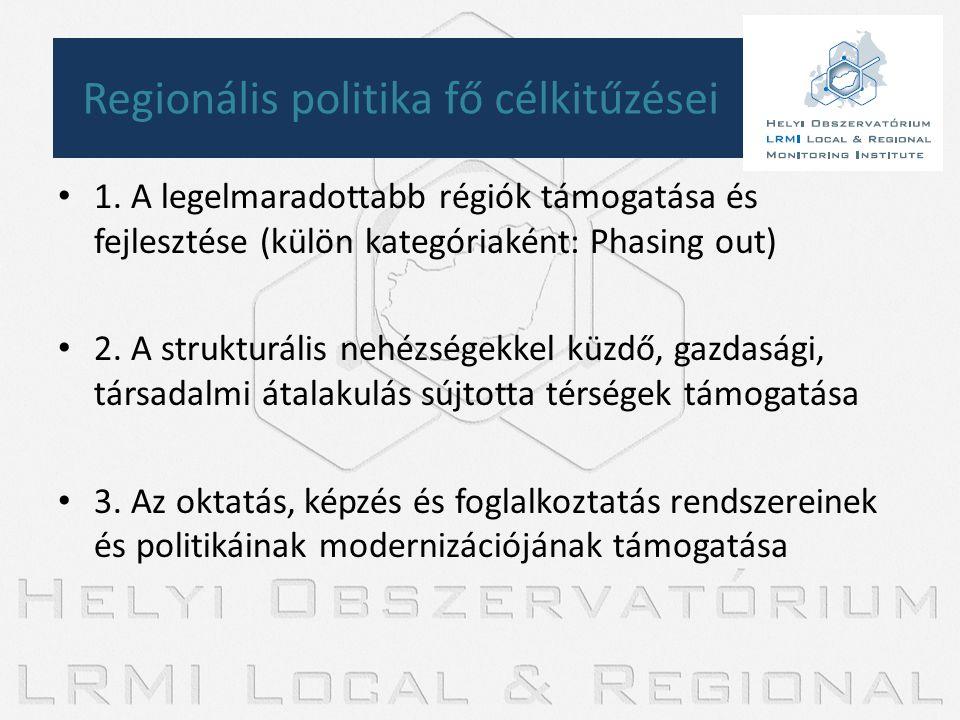 Regionális politika fő célkitűzései