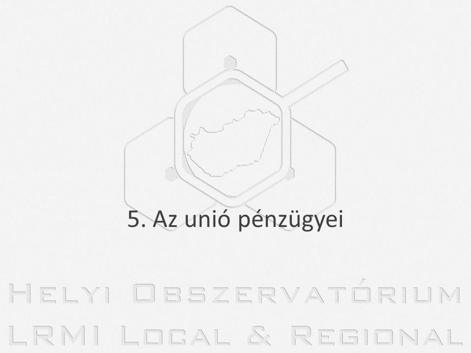 5. Az unió pénzügyei