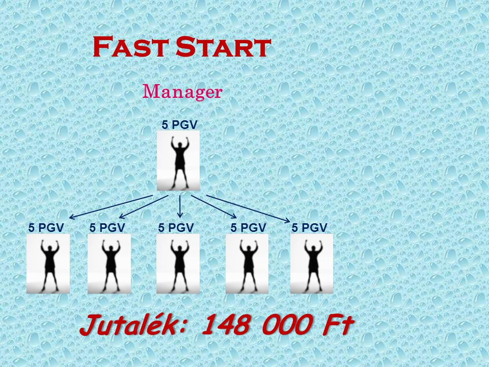 Fast Start Jutalék: 148 000 Ft Manager 5 PGV 5 PGV 5 PGV 5 PGV 5 PGV