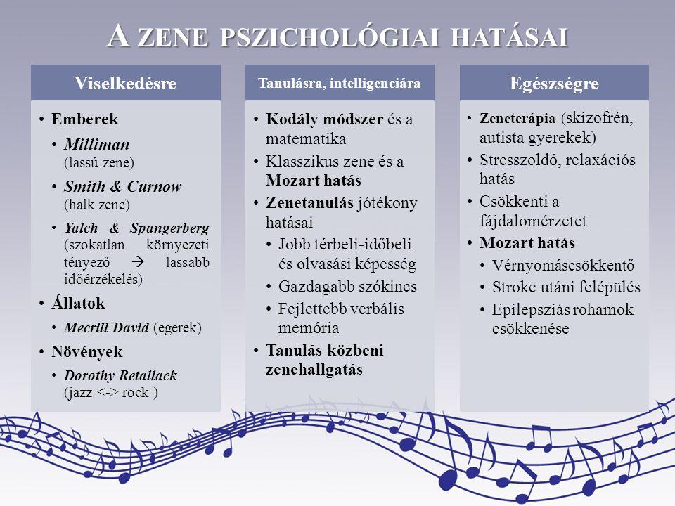 A zene pszichológiai hatásai