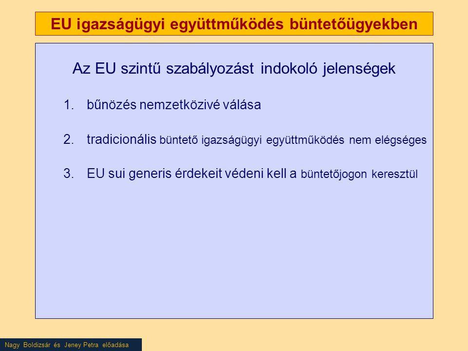 EU igazságügyi együttműködés büntetőügyekben
