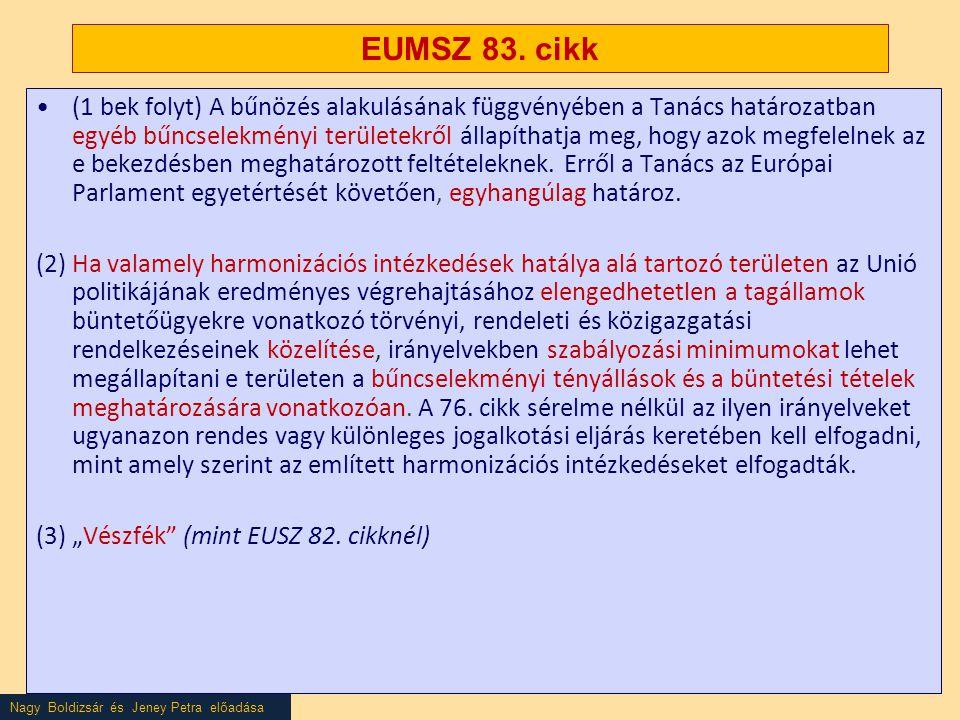 EUMSZ 83. cikk