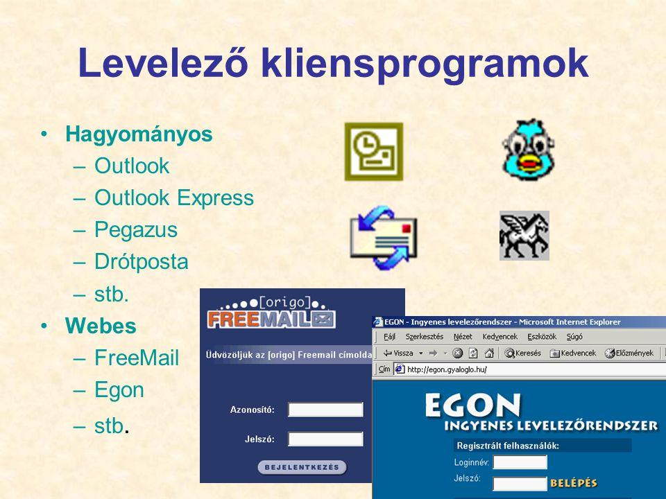 Levelező kliensprogramok