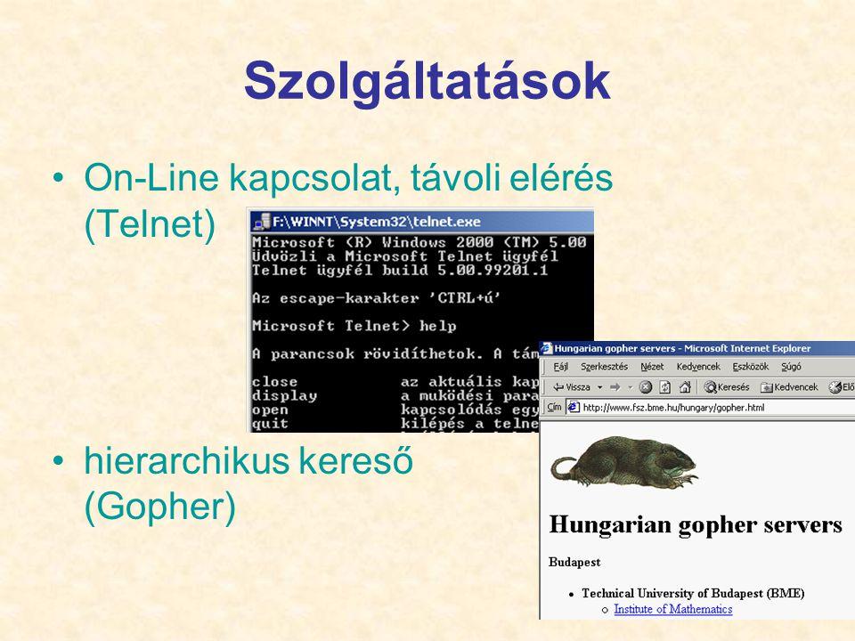 Szolgáltatások On-Line kapcsolat, távoli elérés (Telnet)
