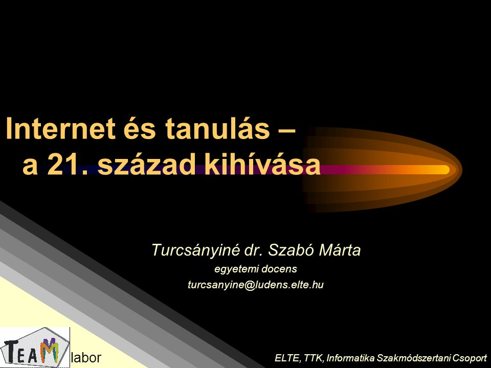 Internet és tanulás – a 21. század kihívása