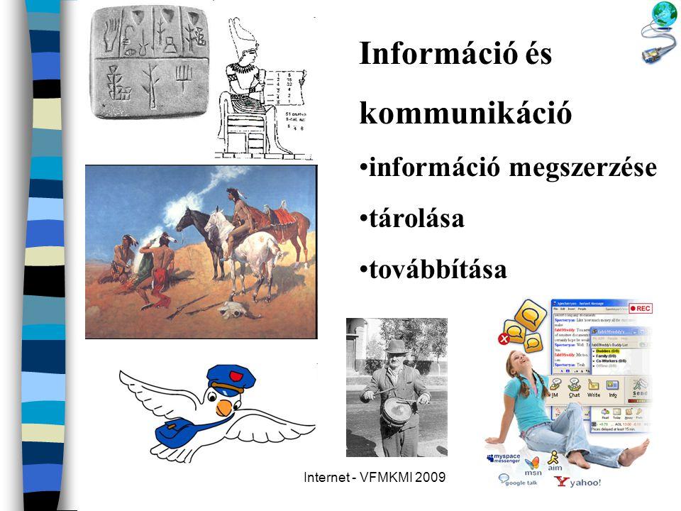 Információ és kommunikáció információ megszerzése tárolása továbbítása