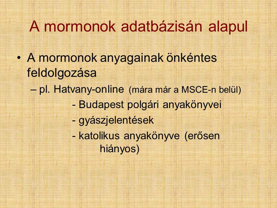A mormonok adatbázisán alapul