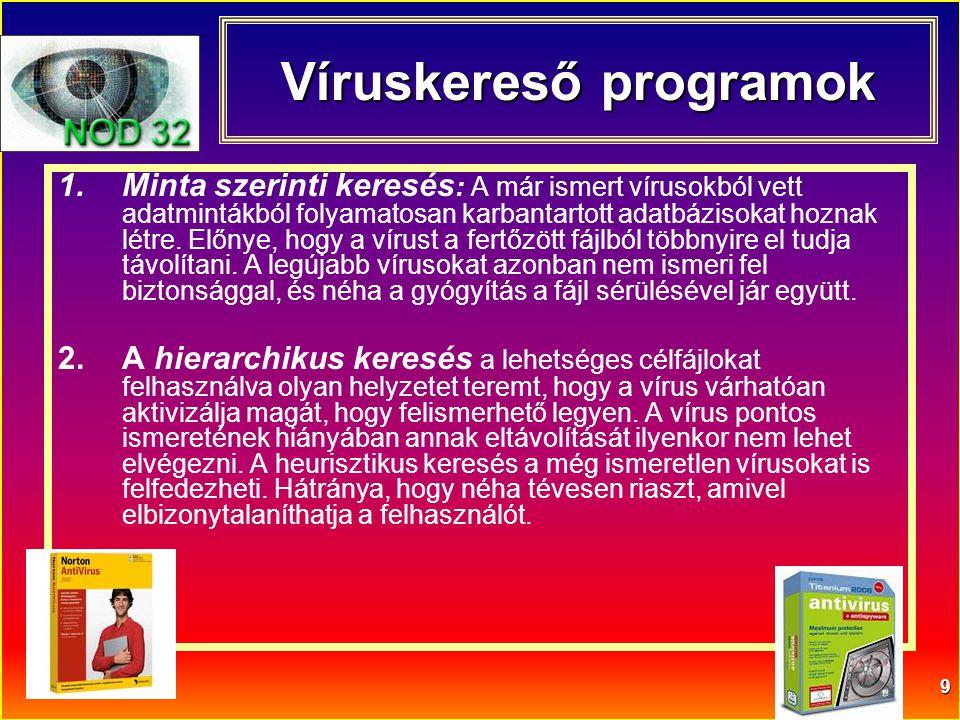 Víruskereső programok