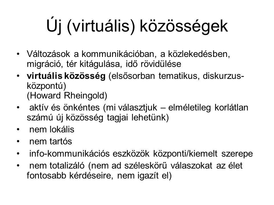 Új (virtuális) közösségek