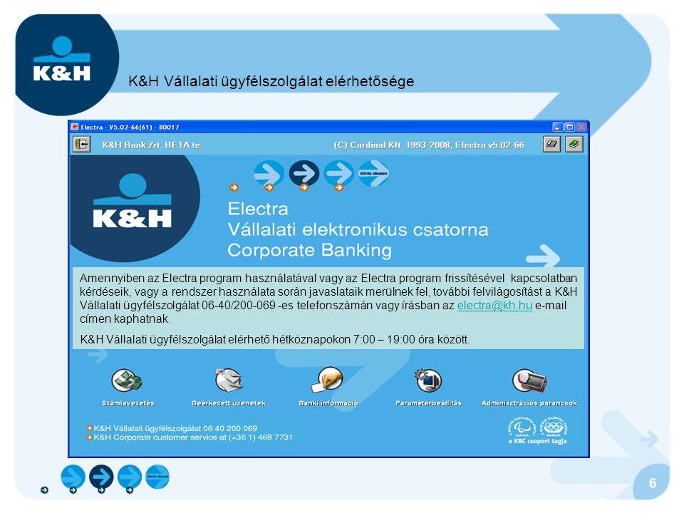 K&H Vállalati ügyfélszolgálat elérhetősége