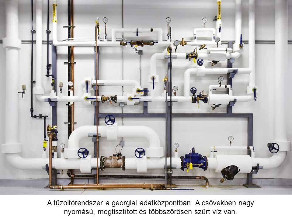 A tűzoltórendszer a georgiai adatközpontban