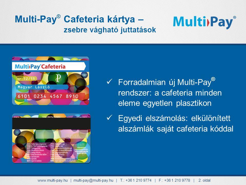 Multi-Pay® Cafeteria kártya –