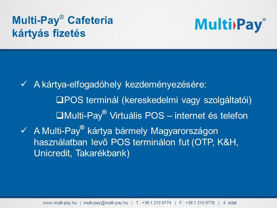 Multi-Pay® Cafeteria kártyás fizetés