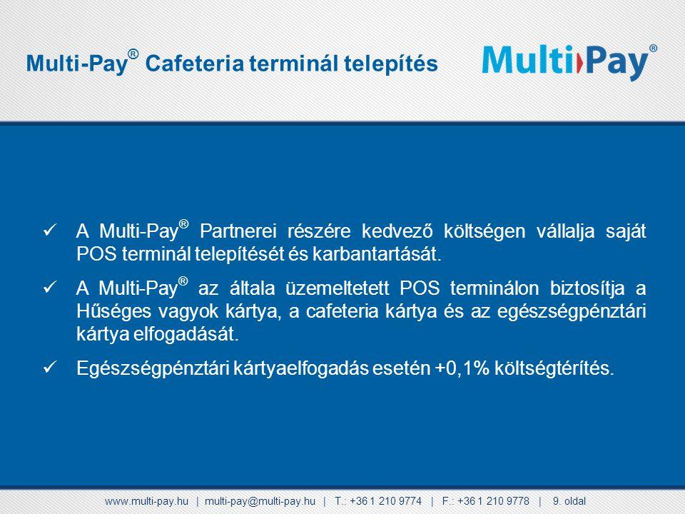 Multi-Pay® Cafeteria terminál telepítés