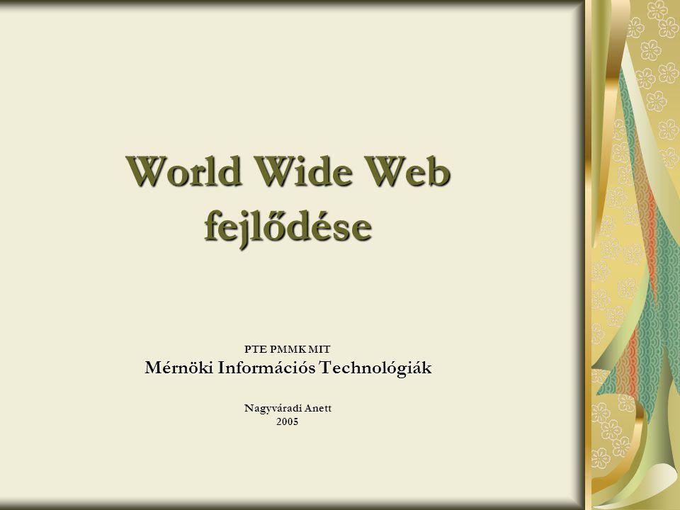 World Wide Web fejlődése
