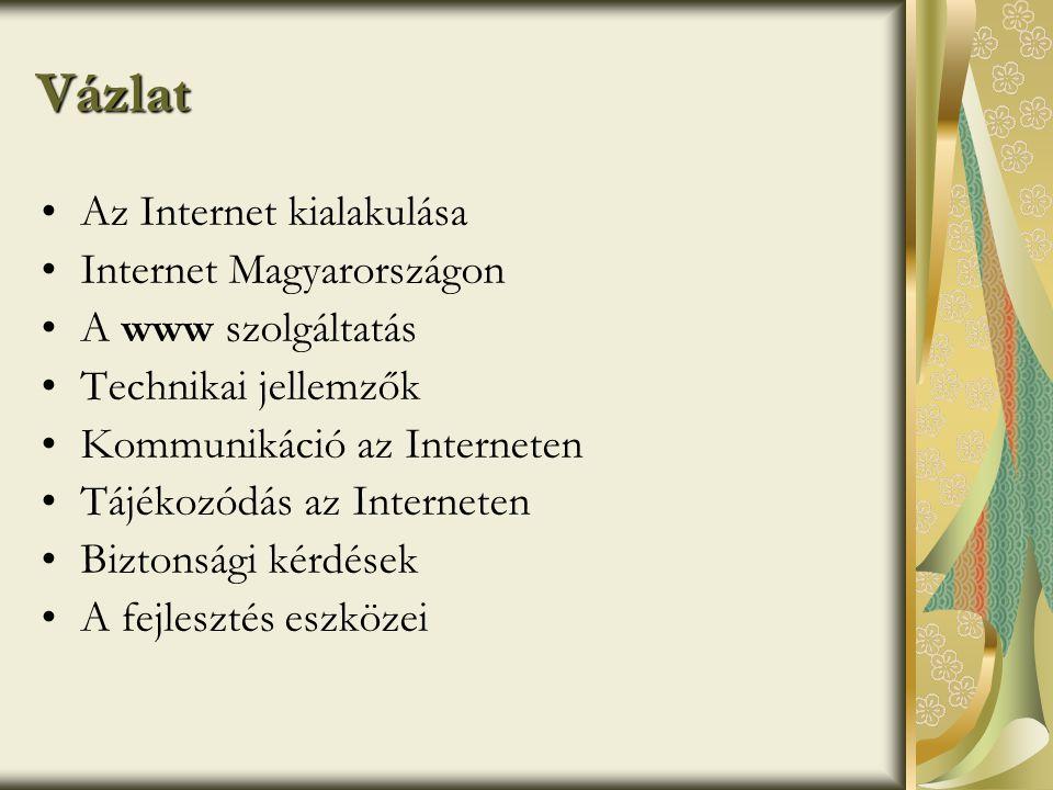 Vázlat Az Internet kialakulása Internet Magyarországon