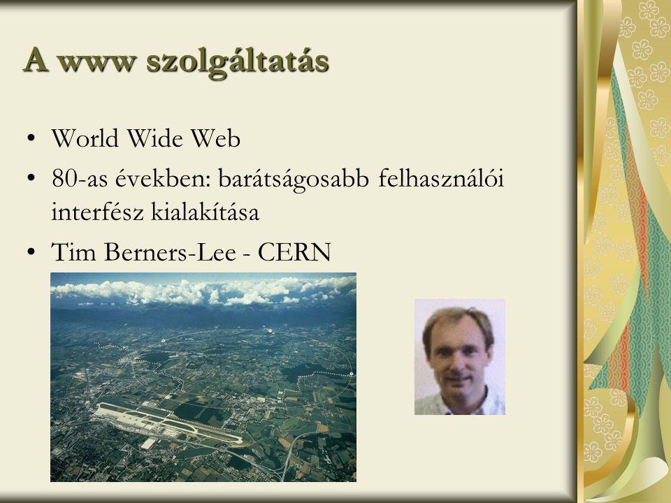 A www szolgáltatás World Wide Web