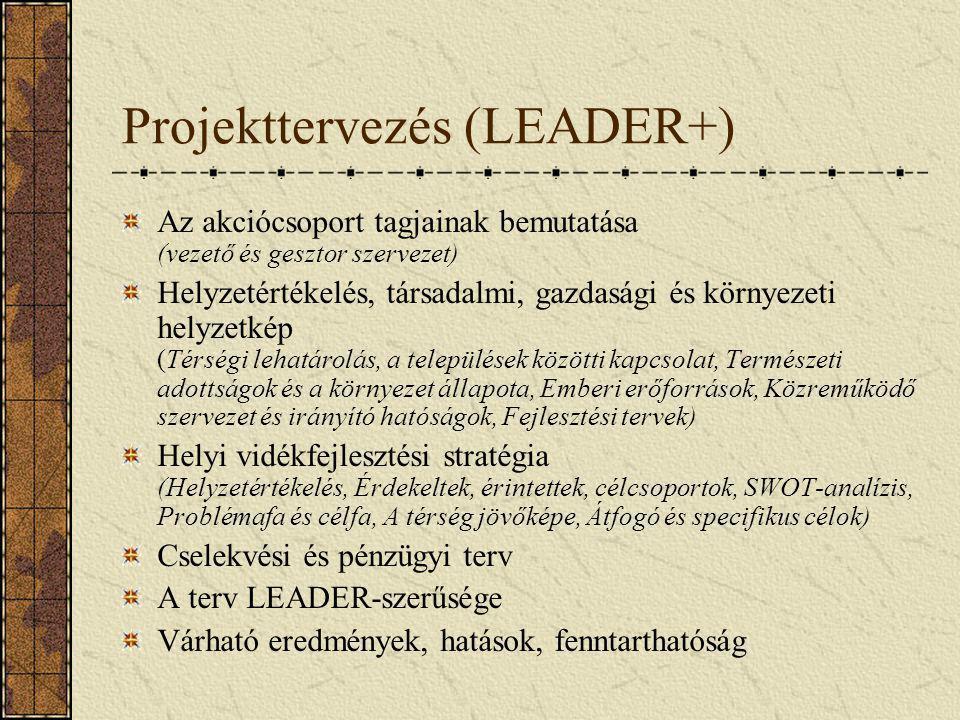 Projekttervezés (LEADER+)