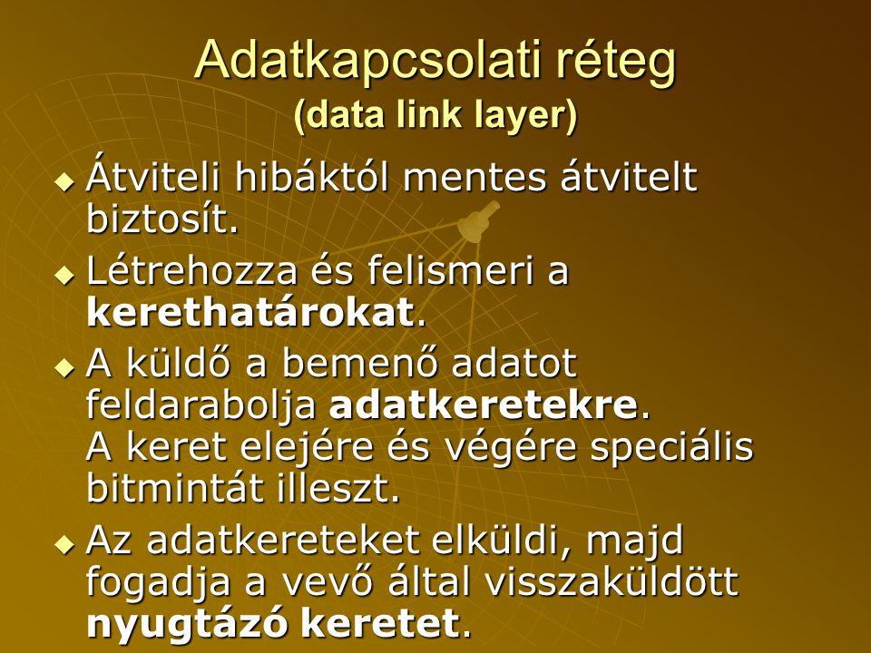Adatkapcsolati réteg (data link layer)
