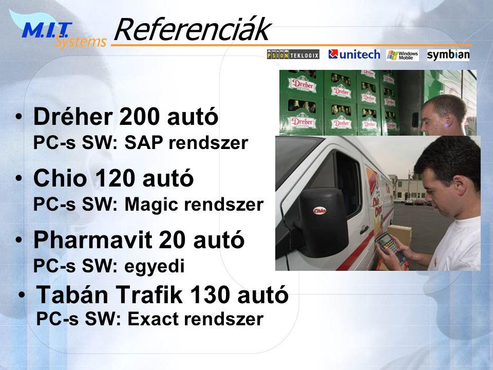 Referenciák Dréher 200 autó PC-s SW: SAP rendszer