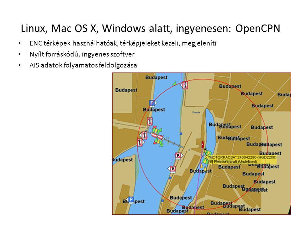 Linux, Mac OS X, Windows alatt, ingyenesen: OpenCPN