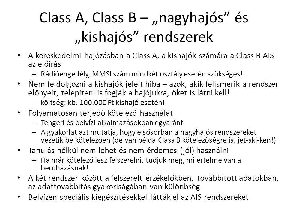 """Class A, Class B – """"nagyhajós és """"kishajós rendszerek"""
