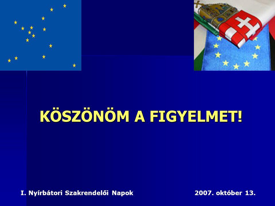 KÖSZÖNÖM A FIGYELMET. I. Nyírbátori Szakrendelői Napok 2007.