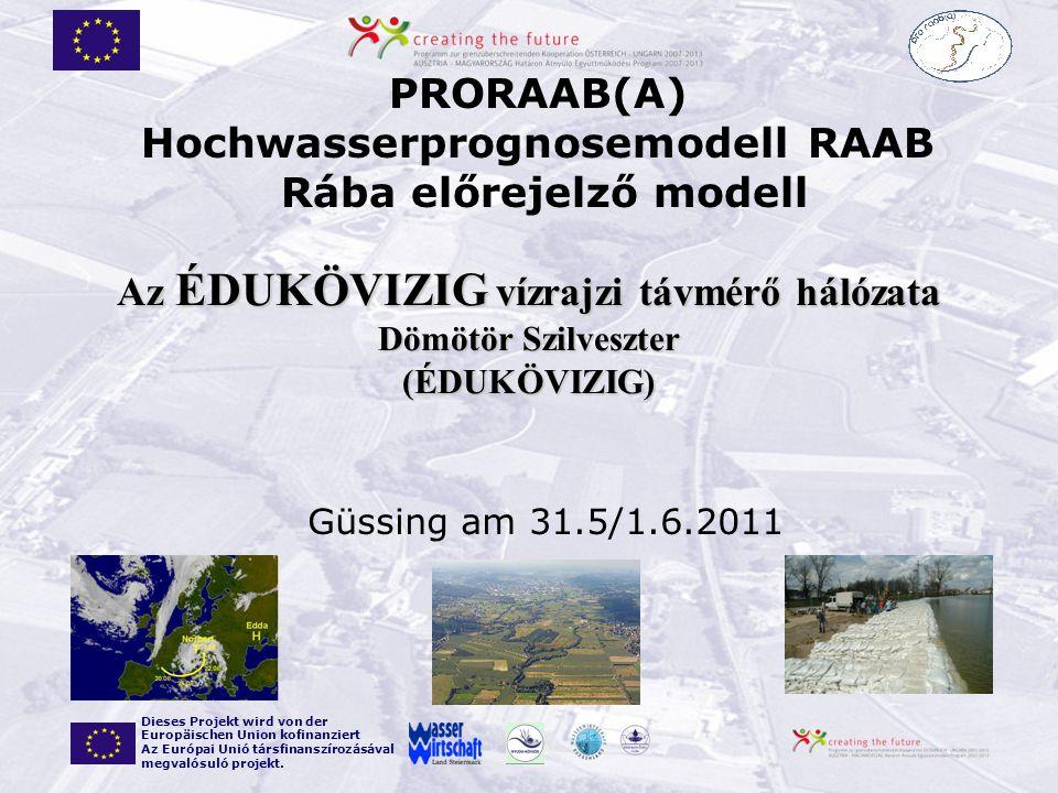 Az ÉDUKÖVIZIG vízrajzi távmérő hálózata Dömötör Szilveszter (ÉDUKÖVIZIG)