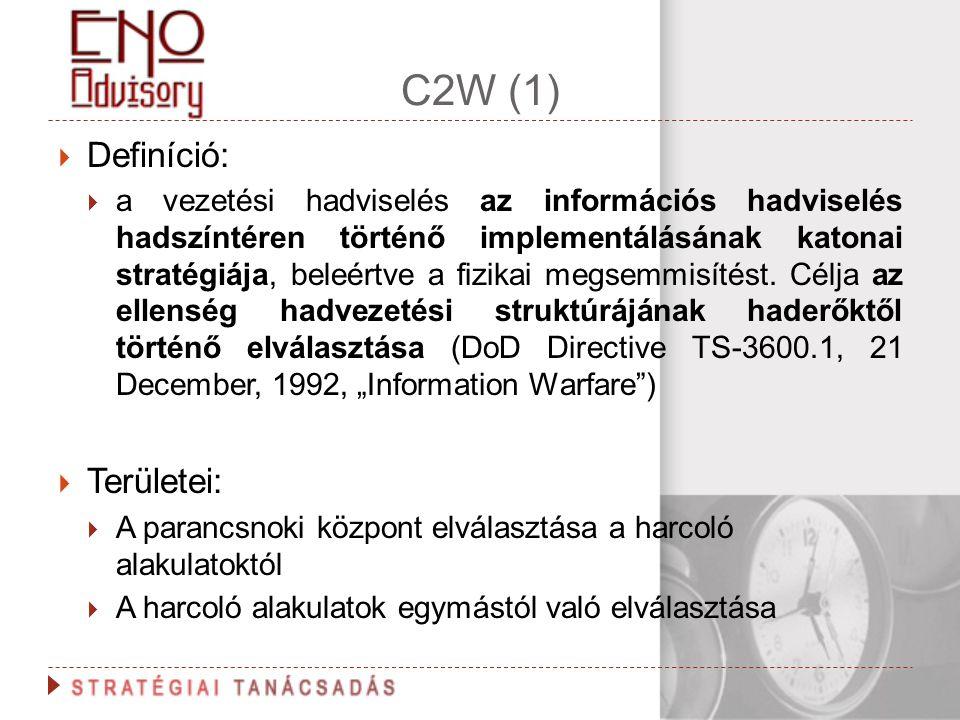C2W (1) Definíció: Területei: