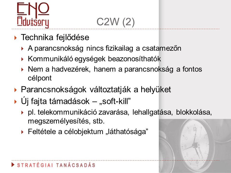 C2W (2) Technika fejlődése Parancsnokságok változtatják a helyüket