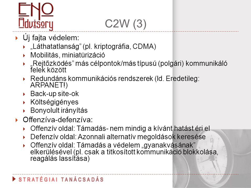 C2W (3) Új fajta védelem: Offenzíva-defenzíva: