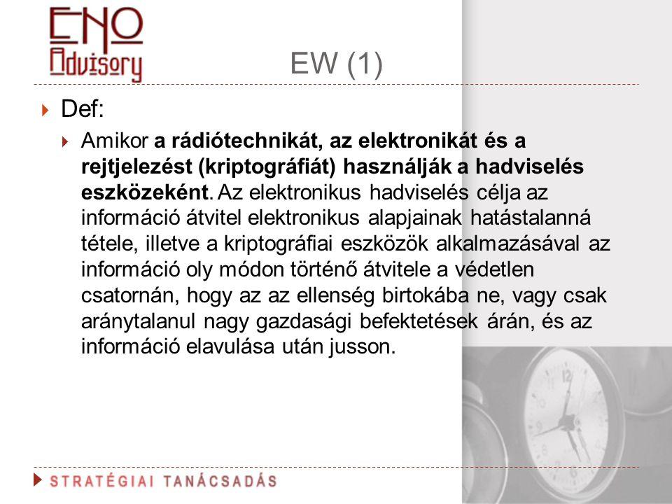 EW (1) Def: