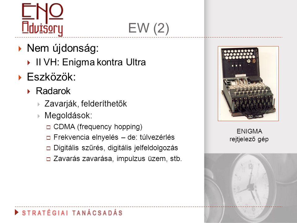 EW (2) Nem újdonság: Eszközök: II VH: Enigma kontra Ultra Radarok