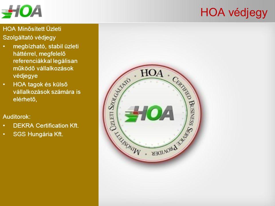 HOA védjegy HOA Minősített Üzleti Szolgáltató védjegy
