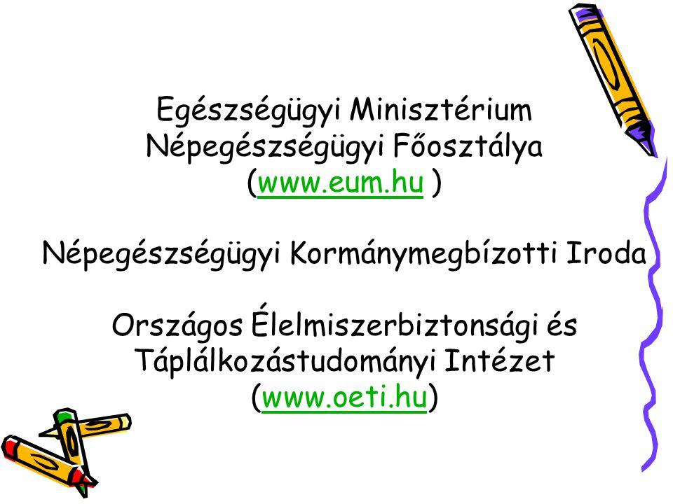 Egészségügyi Minisztérium Népegészségügyi Főosztálya (www. eum