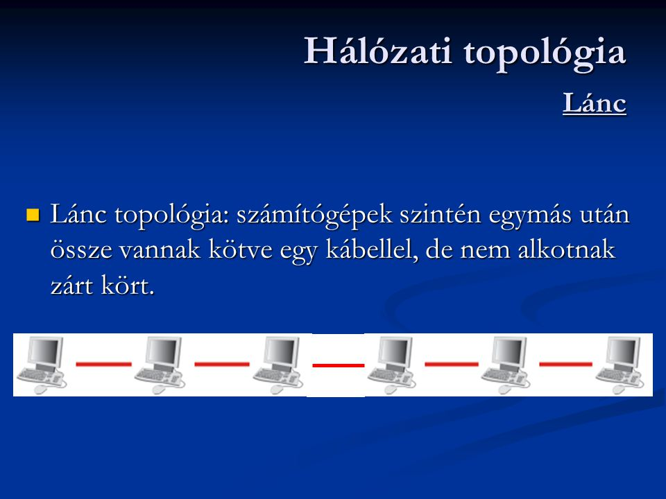 Hálózati topológia Lánc