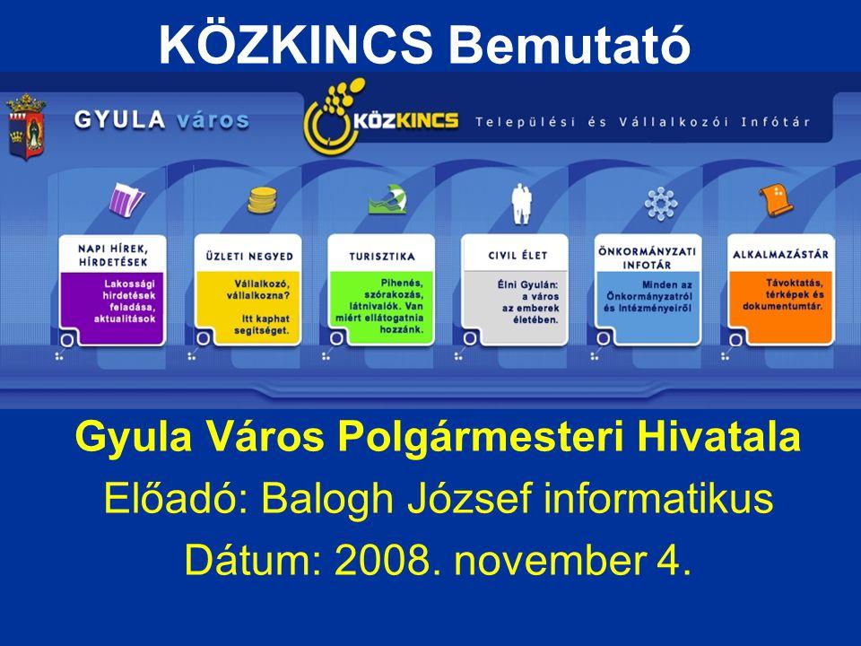 Gyula Város Polgármesteri Hivatala