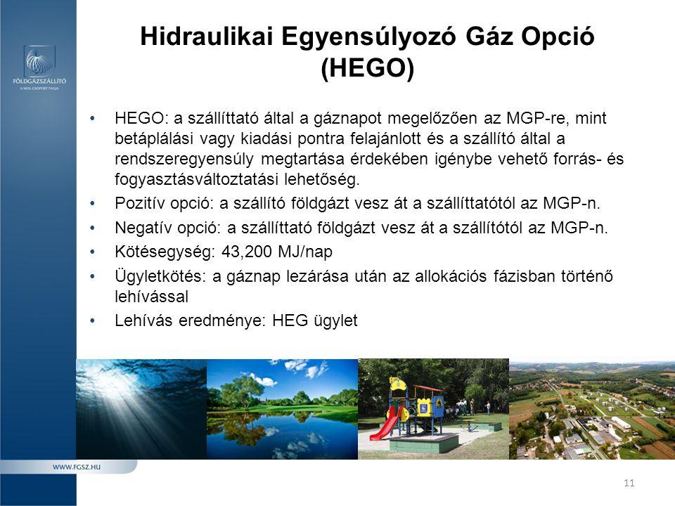 Hidraulikai Egyensúlyozó Gáz Opció (HEGO)