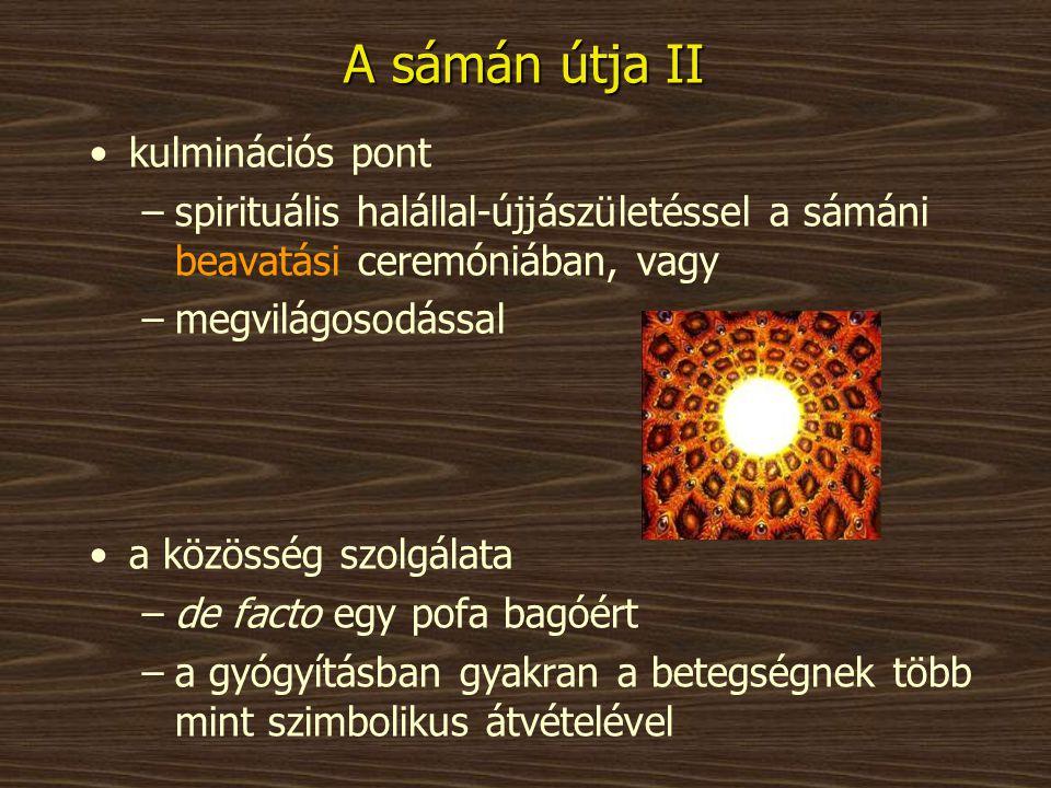 A sámán útja II kulminációs pont