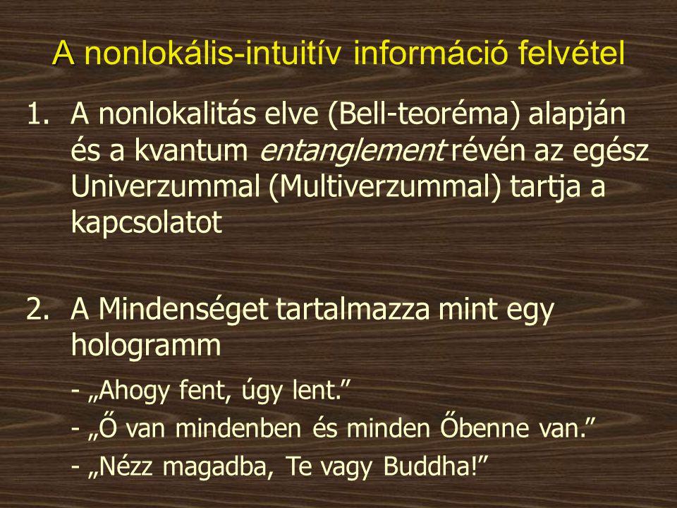 A nonlokális-intuitív információ felvétel